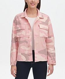 Women's Cotton Print Jacket