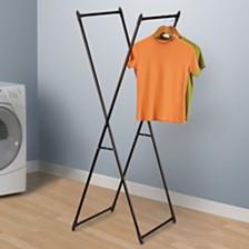 Household Essentials Antique Bronze Valet Clothes Rack