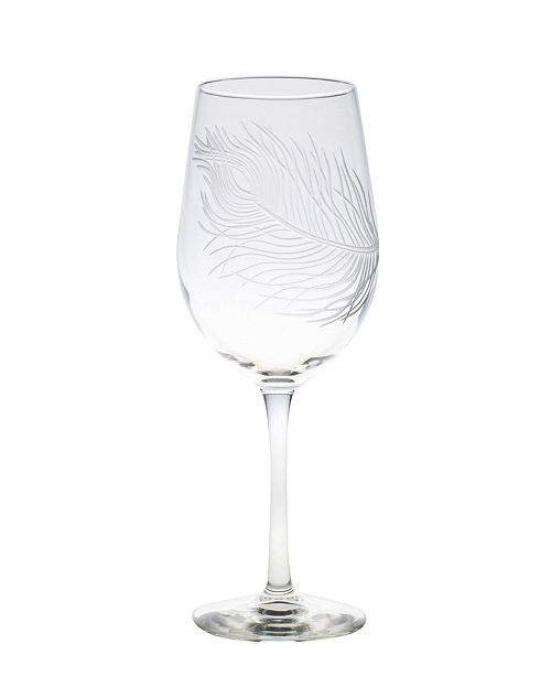 Rolf Glass Peacock White Wine 12Oz - Set Of 4 Glasses