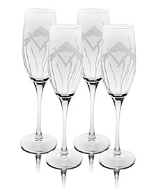 Dragonfly Champagne Flute 8Oz - Set Of 4 Glasses