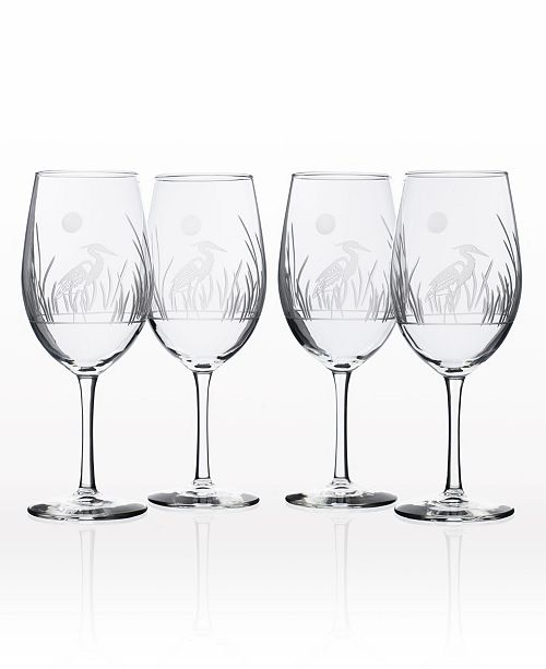 Rolf Glass Heron All Purpose Wine Glass 18Oz - Set Of 4 Glasses