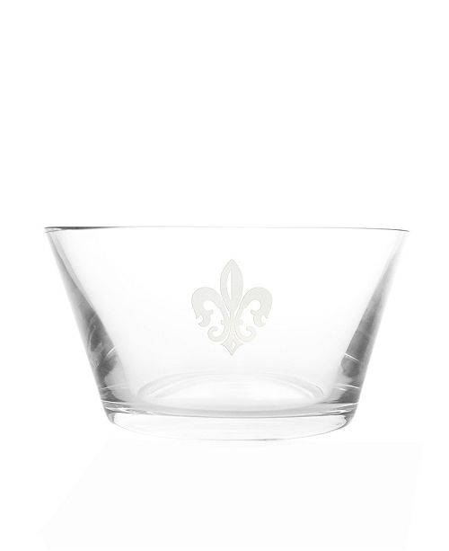 Rolf Glass Grand Fleur De Lis Clear Small Bowl 6 Inch - Set Of 4 Bowls