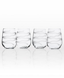 Good Vibrations Stemless 17Oz - Set Of 4 Glasses