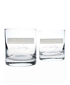 John Wayne Quotes Series 1 On The Rocks 11Oz - Set Of 2 Glasses