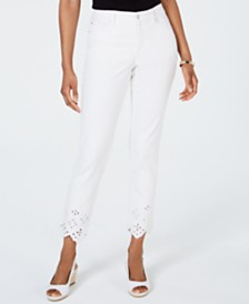Charter Club Bristol Eyelet-Hem Skinny Jeans, Created for Macy's