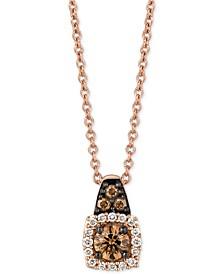 "Chocolatier® Diamond 18"" Pendant Necklace (1/4 ct. t.w.) in 14k Rose Gold"
