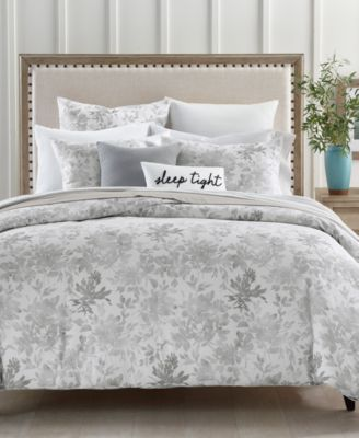 Watercolor Leaf 300-Thread Count 2-Pc. Twin Comforter Set, Created for Macy's