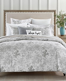 Charter Club Damask Designs Watercolor Leaf Cotton 300-Thread Count 2-Pc. Twin Duvet Cover Set, Created for Macy's