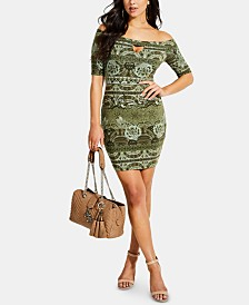 GUESS Tanlee Off-The-Shoulder Bodycon Dress