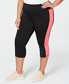 Plus Size Colorblocked Cropped Leggings, Created for Macy's