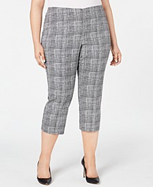 Plus Size Printed Capri Pants, Created for Macy's