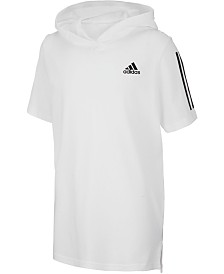adidas Big Boys Transition Hooded Cotto Shirt
