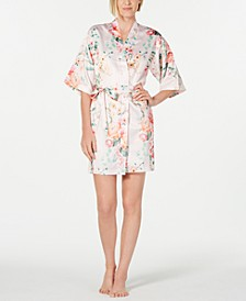 Tish Floral-Print Charm Wrap Robe