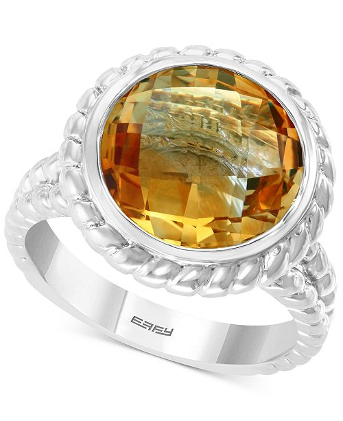 EFFY Collection EFFY® Citrine Statement Ring (4-3/4 ct. t.w.) in Sterling Silver