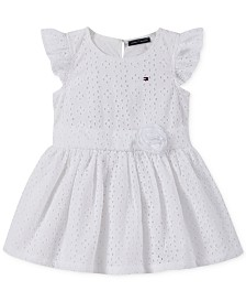 Tommy Hilfiger Baby Girls Cotton Eyelet Dress