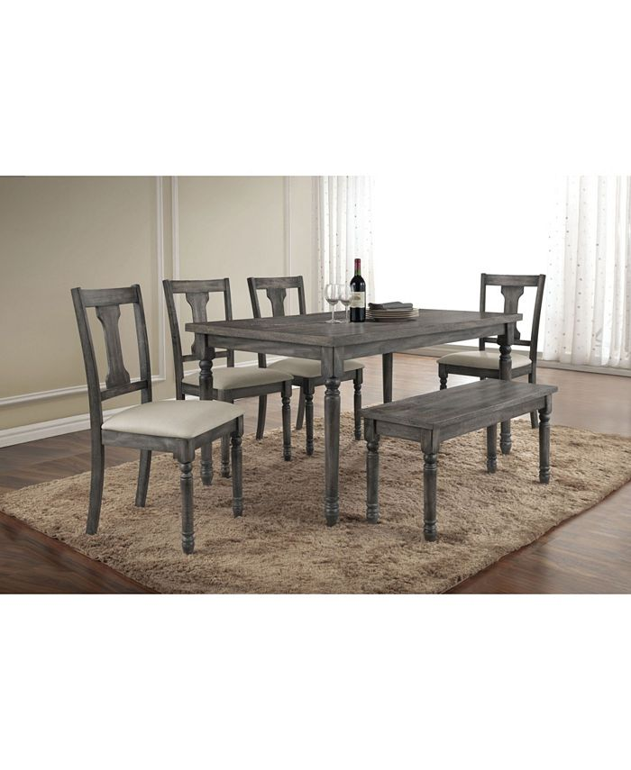 Acme Furniture - ACME Wallace Bench, Weathered Gray