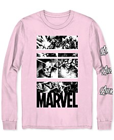 Marvel Heroes Long-Sleeve Men's Graphic T-Shirt