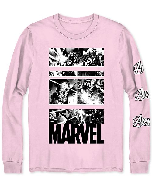 Hybrid Marvel Heroes Long-Sleeve Men's Graphic T-Shirt