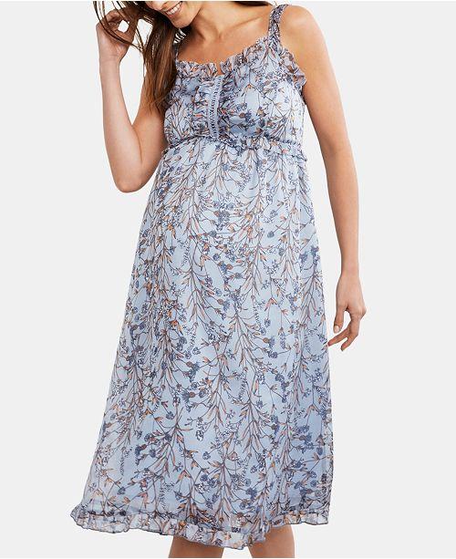 A Pea in the Pod Maternity Printed Midi Dress