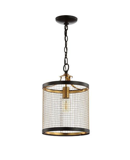 JONATHAN Y Elena Lantern Metal LED Pendant