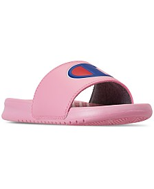 Champion Little Girls' Super Slide Sandals from Finish Line