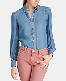 Lauren Ralph Lauren Petite Denim Shirt