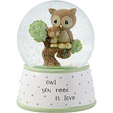 Owl You Need Is Love Musical Resin & Glass Snow Globe 183101