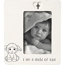 I Am A Child Of God 4 x 6 Ceramic Baptism Photo Frame with Charm 183434