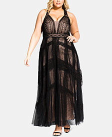 City Chic Trendy Plus Size Divine Whimsy Maxi Dress