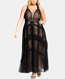 City Chic Trendy Plus Size Divine Whimsy Maxi Dress