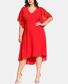 City Chic Trendy Plus Size Adore Batwing Dress