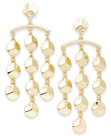 Thalia Sodi Gold-Tone Beaded Chandelier Earrings, Created for Macy's