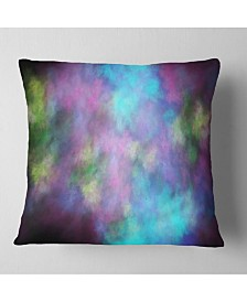 "Designart 'Perfect Blue Purple Starry Sky' Abstract Throw Pillow - 26"" x 26"""