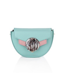Mint Green Halfmoon Crossbody Leather Bag by The Workshop at Macy's