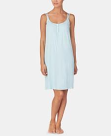 Lauren Ralph Lauren Stripe-Print Knit Nightgown