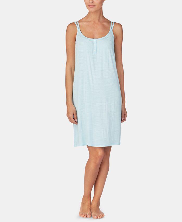 Lauren Ralph Lauren - Stripe-Print Knit Nightgown