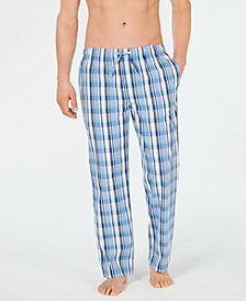 Club Room Men's Cotton Madras Pajama Pants, Created for Macy's