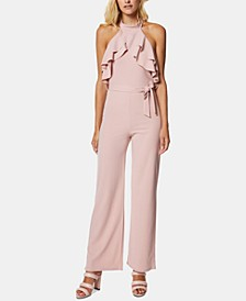 Ruffled Halter Jumpsuit
