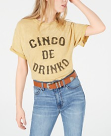 True Vintage Cotton Cinco Graphic T-Shirt