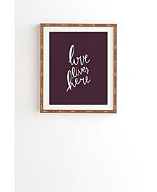 Love Lives Here Framed Wall Art