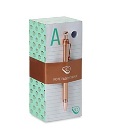 """A"" Note Pad with Pen Set"
