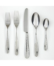 CLOSEOUT! Rendezvous Mir/Hammr 18/0 20-PC Flatware