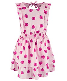 Epic Threads Toddler Girls Strawberry-Print Cotton Dress, Created for Macy's