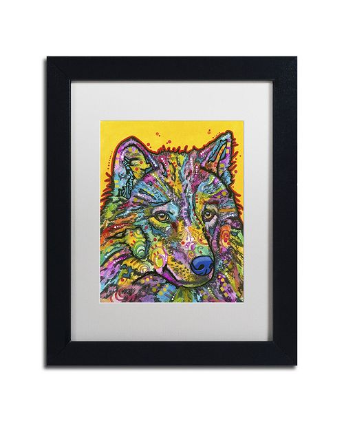 "Trademark Global Dean Russo 'Wolf 2' Matted Framed Art - 11"" x 14"" x 0.5"""
