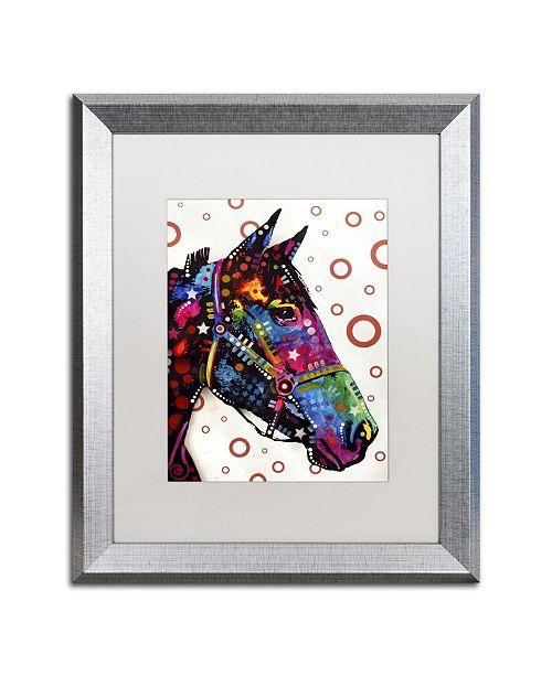"""Trademark Global Dean Russo 'Horse' Matted Framed Art - 20"""" x 16"""" x 0.5"""""""