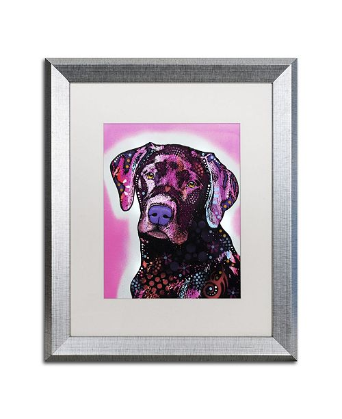 "Trademark Global Dean Russo 'Black Lab' Matted Framed Art - 20"" x 16"" x 0.5"""