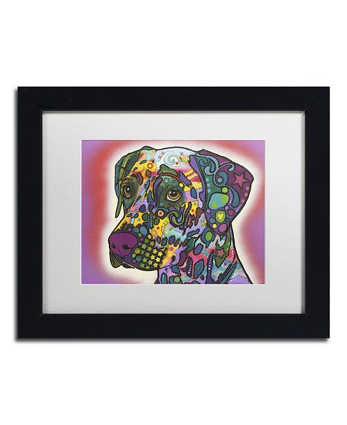 "Trademark Global Dean Russo 'Dalmatian' Matted Framed Art - 11"" x 14"" x 0.5"""