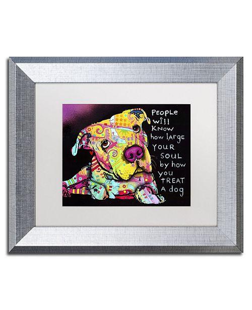 """Trademark Global Dean Russo 'Firu' Matted Framed Art - 14"""" x 11"""" x 0.5"""""""