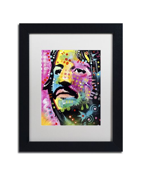 "Trademark Global Dean Russo 'Ringo Starr' Matted Framed Art - 11"" x 14"" x 0.5"""