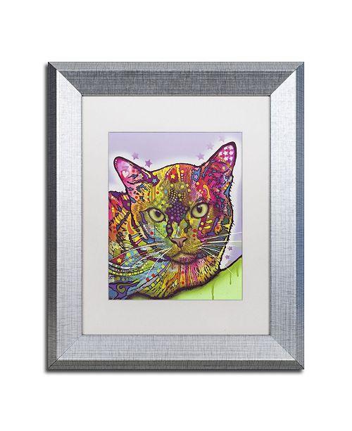 """Trademark Global Dean Russo 'Burmese' Matted Framed Art - 14"""" x 11"""" x 0.5"""""""